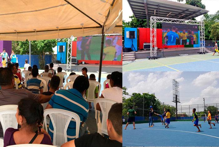 Sampedranos disfrutaron del Mundial con pantallas gigantes