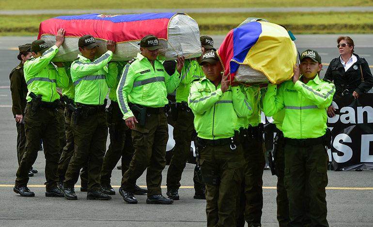 Cuerpos de pareja asesinada en Colombia fueron repatriados a Ecuador