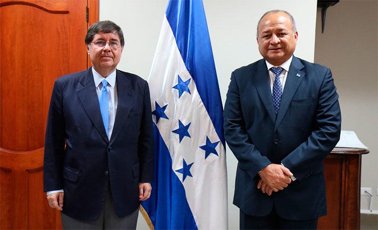 Vocero de la Maccih se reúne con el titular de Seguridad en Honduras