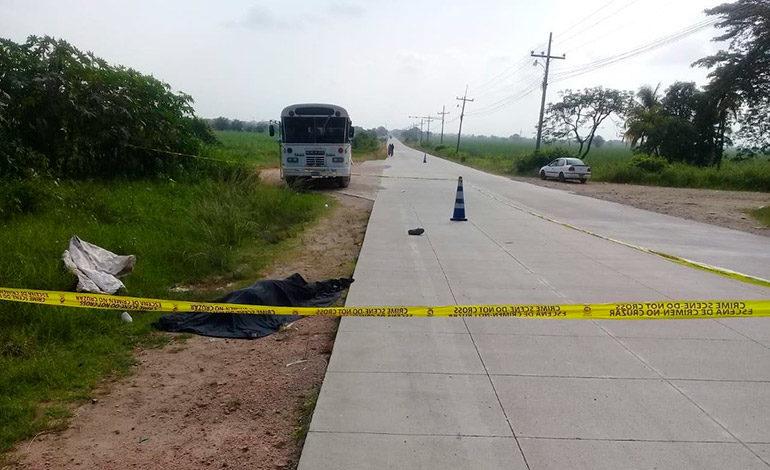 Hombre muere atropellado en Villa Nueva, Cortés