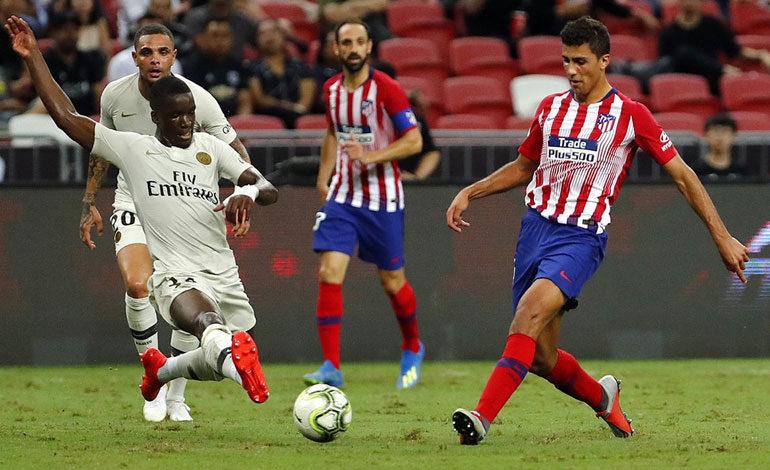 PSG derrota al Atlético de Madrid en Singapur