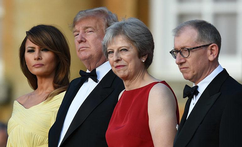 """May tiende la mano a Trump para un pacto """"sin precedentes"""""""