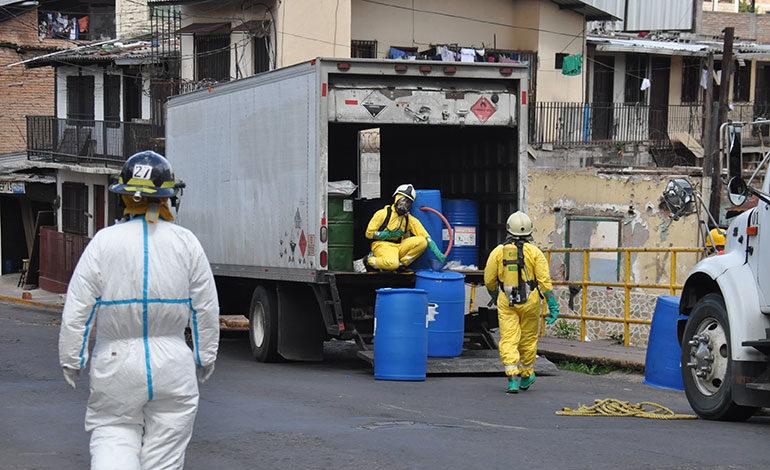 Químico mortal se derrama en Los Jucos