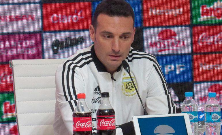"""¿Messi? """"más adelante ya veremos"""", dice DT Scaloni"""