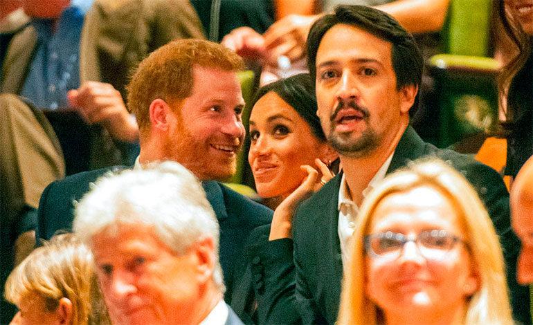 """Enrique y Meghan asisten a representación de """"Hamilton"""""""