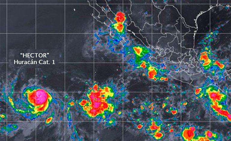 Huracán Héctor avanza en categoría 1 por el Pacífico sin afectar a México