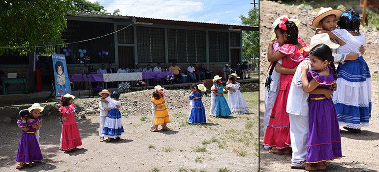 """DANZAS. Los pequeños bailarines folclóricos del Instituto Tecnológico del Sur, de Aramecina, Valle, deslumbraron con sus bailes, incluyendo la danza """"El Sueñito""""."""