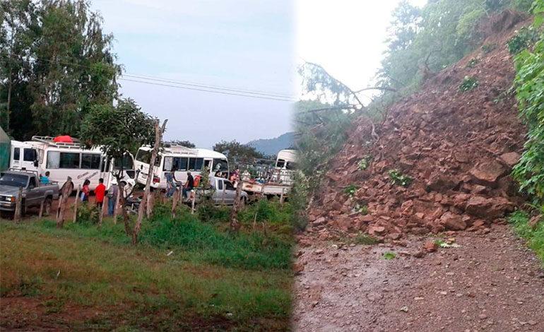 Derrumbe deja incomunicados a varios municipios de Lempira