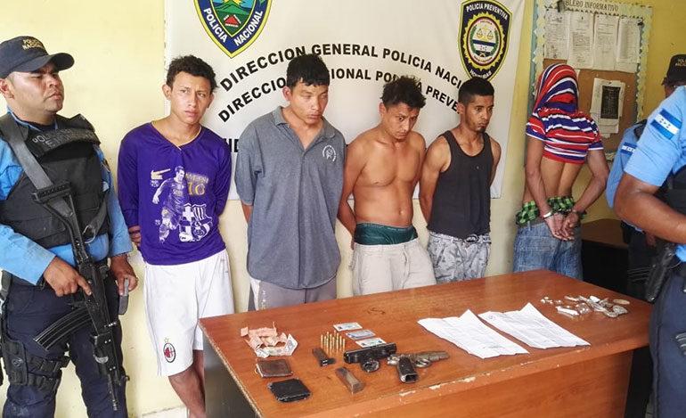 Caen supuestos integrantes de la mara MS-13 en Comayagüela