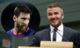 David Beckham quiere a Messi en su equipo
