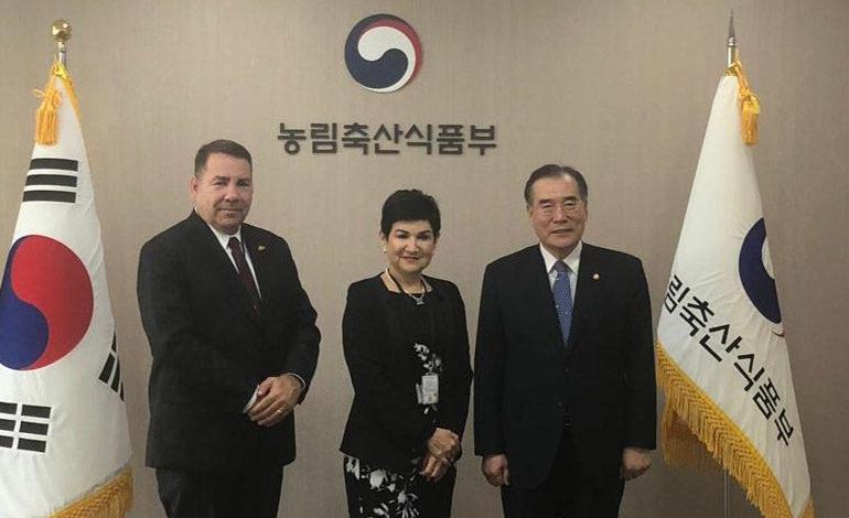 Designada presidencial sostiene reuniones de alto nivel en Corea