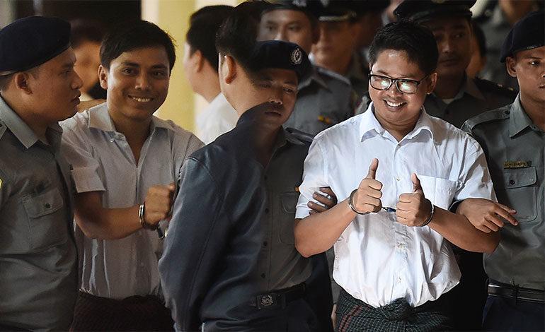 La ONU pide libertad de los dos periodistas condenados en Birmania