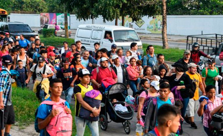 Comisión de DDHH mexicana pide medidas cautelares para hondureños en caravana
