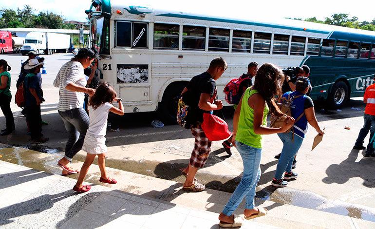 Guatemala ha devuelto a 1.107 hondureños migrantes con el plan retorno seguro