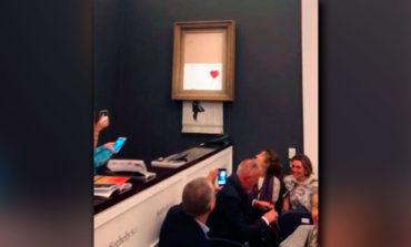 La autodestruida obra de Banksy vale más ahora que la original