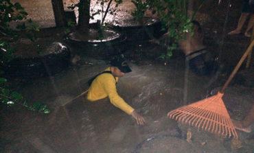 Niño desaparece en inundación durante torrencial lluvia en Tela