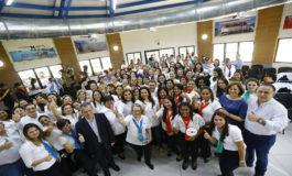 """Pareja presidencial inaugura """"Ciudad Mujer"""" en San Pedro Sula"""