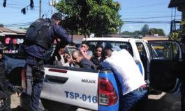 Capturan a cinco hombres con armas en Santa Bárbara