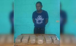 Capturan a hombre con droga en Omoa, Cortés