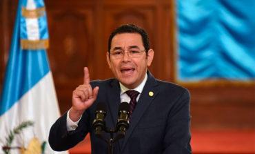 """Presidente Jimmy Morales asegura que en Guatemala """"se cumplirá la ley"""""""