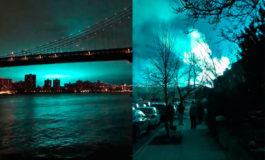 Luces azules y rumores de invasión extraterrestre en Nueva York