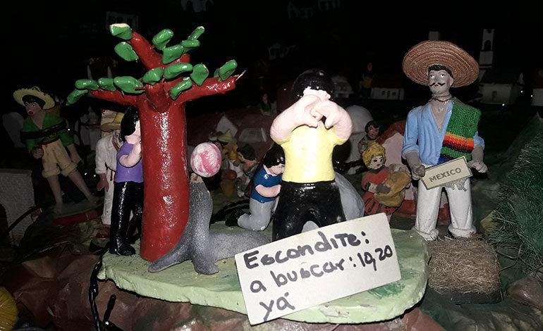 Tradición en pesebre de la familia Valladares