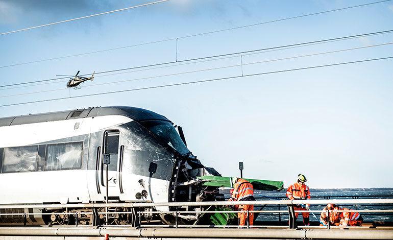 Seis muertos en un accidente de tren en Dinamarca