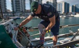 Ex soldado británico discapacitado busca cruzar el Atlántico a remo