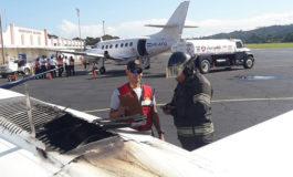 Avioneta aterriza de emergencia en La Ceiba