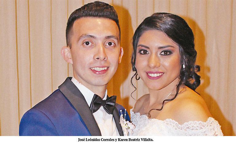 José Corrales y Karen Villalta se casan en la basílica de Suyapa