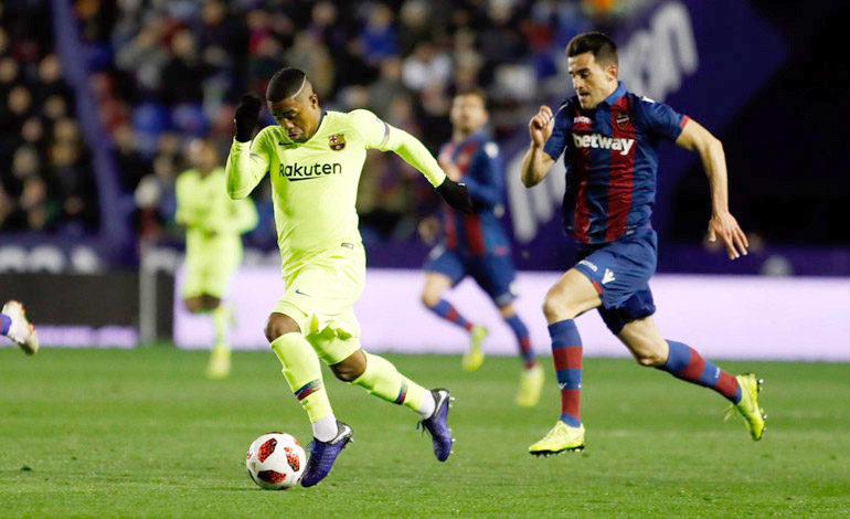 Un aguerrido Levante doblega al Barcelona