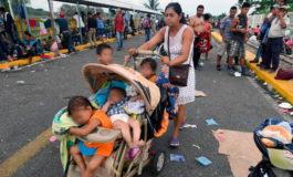 Advierte Dinaf: Sancionarán a padres de familia que llevan niños en caravana migratoria