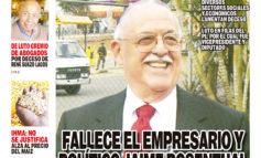 FALLECE EL EMPRESARIO Y POLÍTICO JAIME ROSENTHAL
