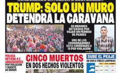 TRUMP: SOLO UN MURO DETENDRÁ LA CARAVANA
