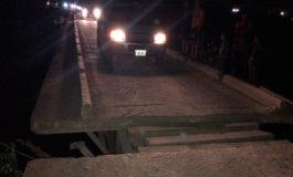 Cierran puente sobre el río Humuya en Santa Rita, Yoro (Video)