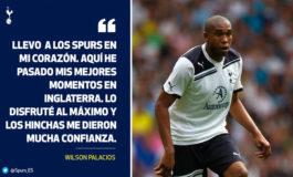 Tottenham sigue recordando con estima a Wilson Palacios