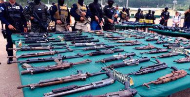 Fusina decomisó 13,857 armas entre 2014 y enero de 2019