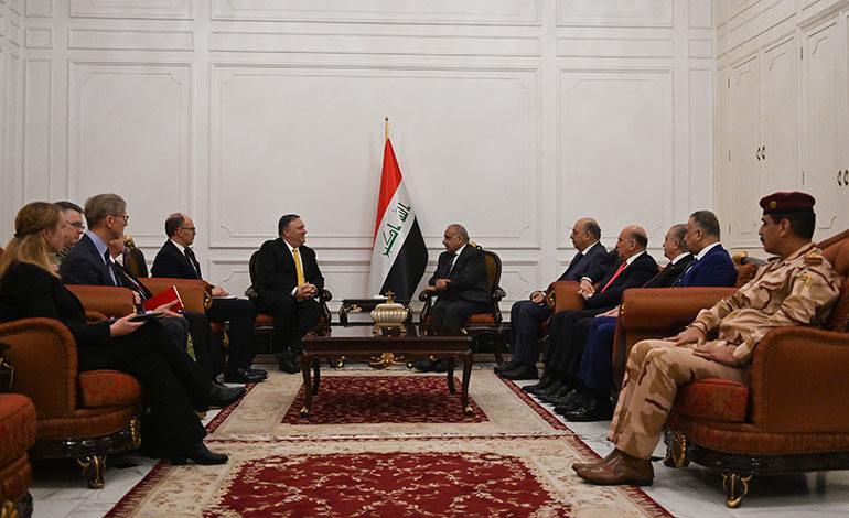 Pompeo se reúne con dirigentes iraquíes en una visita por sorpresa a Bagdad