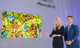 Samsung presenta un televisor MicroLED adaptado para el hogar de 75 pulgadas