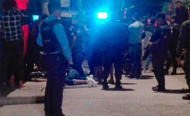 Ultiman a cinco personas en colonia Villanueva de Tegucigalpa