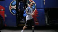 Messi llegando