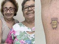 Abuelas se hacen tatuaje de cerveza 1