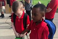 79123 0 eight year old boys kind act to comfort child on first day of school