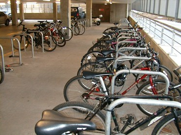Cycle parking at GlaxoSmithKline Credit: Lionel Shapiro