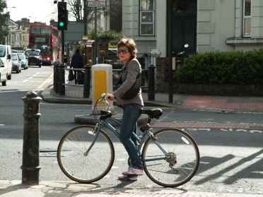 Cycling in London Credit: Adrian Lewis
