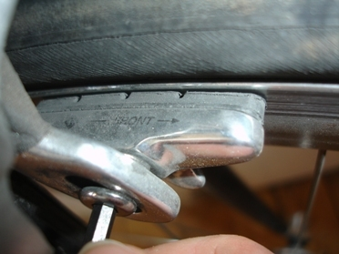 Check your brake blocks are not worn down