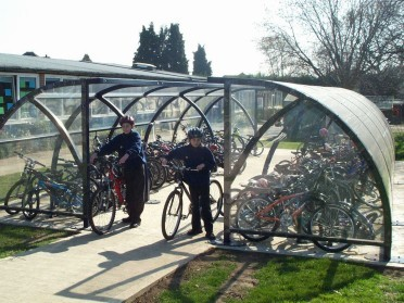 Christchurch Primary School cycle parking