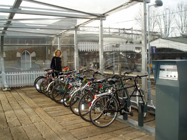 Walthamstow Central hi-tech bike shed Credit: LB Waltham Forest