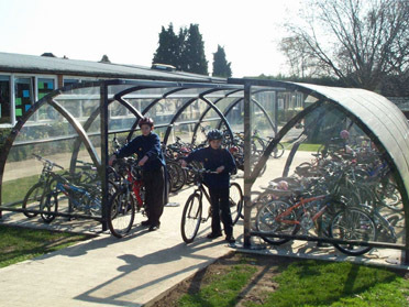 Cycle parking at Christ Church Primary School