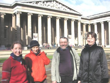 Lunch stop in the British Museum  Credit: Philip Loy